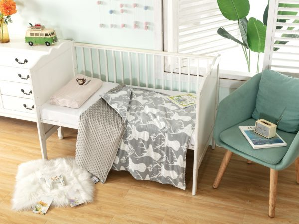 stag print cover blanket