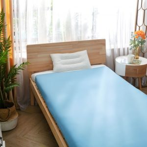 sensory bed sheet blue